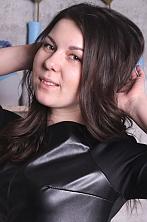 Ukrainian girl Yana,24 years old with green eyes and black hair.