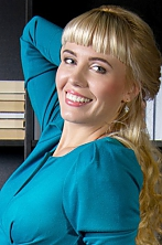 Ukrainian girl Olya,31 years old with blue eyes and blonde hair.