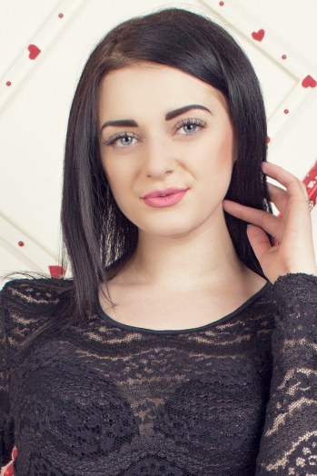 Ukrainian girl Victoria,19 years old with black eyes and dark brown hair.