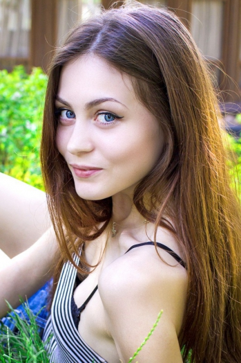 Ukrainian girl Christina,19 years old with  eyes and  hair.