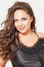 Ukrainian girl Olga,40 years old with green eyes and dark brown hair.