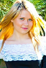 Ukrainian girl Anastasia,23 years old with green eyes and blonde hair.
