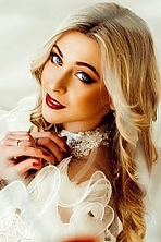 Ukrainian girl Anastasya,24 years old with blue eyes and blonde hair.