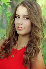 Ukrainian girl Anastasiya,25 years old with green eyes and blonde hair.