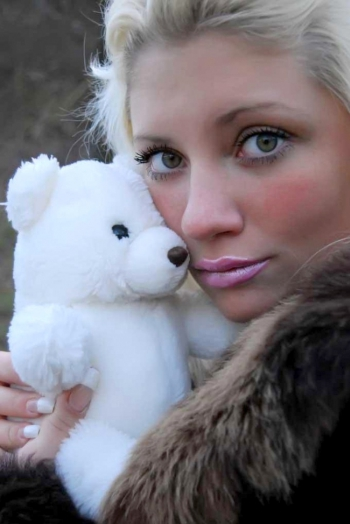 girl Kristyna, years old with  eyes and  hair.