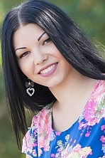 Ukrainian girl Valeria,23 years old with green eyes and black hair.