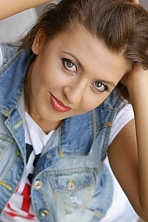 Ukrainian girl Nadya,26 years old with green eyes and light brown hair.