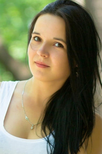 Ukrainian girl Viktoria,22 years old with brown eyes and black hair.