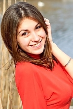 Ukrainian girl Tania,26 years old with brown eyes and light brown hair.