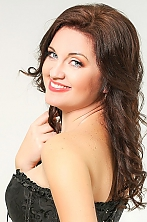 Ukrainian girl Irina,37 years old with blue eyes and dark brown hair.