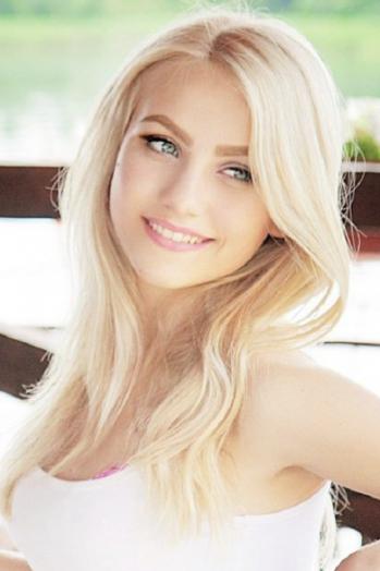 Ukrainian girl Anastasiya,23 years old with blue eyes and blonde hair.