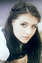 Ukrainian girl Elena,22 years old with blue eyes and light brown hair.