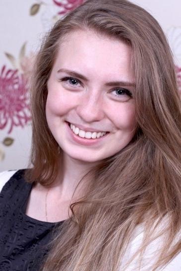 Ukrainian girl Irina,21 years old with grey eyes and blonde hair.