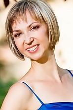 Ukrainian girl Anna,43 years old with  eyes and  hair.