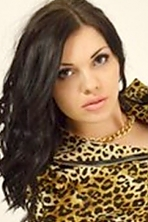Ukrainian girl Anna,26 years old with blue eyes and black hair.