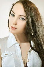Ukrainian girl Darina,26 years old with grey eyes and dark brown hair.