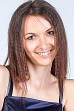 Ukrainian girl Marina,25 years old with brown eyes and dark brown hair.