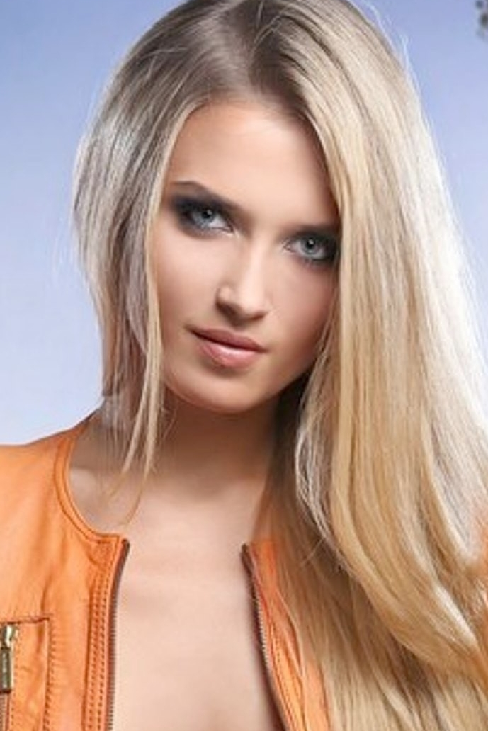 Ukrainian girl Olga,25 years old with blue eyes and blonde hair.