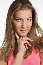 Ukrainian girl Margaryta,24 years old with green eyes and white grey hair.