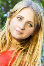 Ukrainian girl Anastasia,20 years old with blue eyes and blonde hair.
