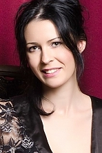 Ukrainian girl Angelica,31 years old with green eyes and black hair.