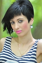 Ukrainian girl Darya,26 years old with brown eyes and black hair.