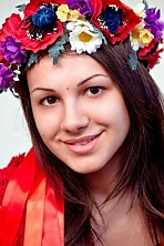 Ukrainian girl Marina,23 years old with brown eyes and dark brown hair.