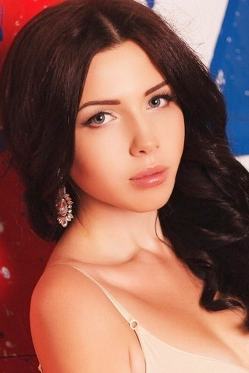 Ukrainian girl Karina,20 years old with brown eyes and black hair.
