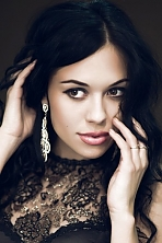 Ukrainian girl Victoria,23 years old with brown eyes and black hair.