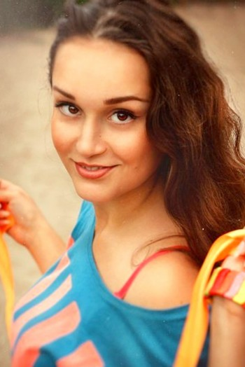 Ukrainian girl Anna,21 years old with  eyes and  hair.