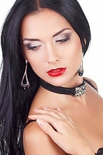 Ukrainian girl Anna,30 years old with brown eyes and black hair.