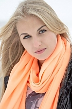 Ukrainian girl Marina,28 years old with blue eyes and blonde hair.