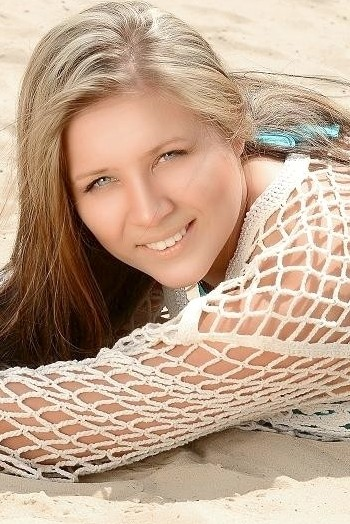 Ukrainian girl Olesya,22 years old with blue eyes and blonde hair.