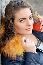 Ukrainian girl Viktoria ,23 years old with green eyes and light brown hair.
