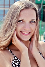 Ukrainian girl Polina,22 years old with blue eyes and light brown hair.