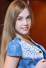 girl Katya, years old with  eyes and  hair.