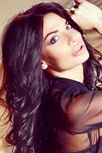 Ukrainian girl Catherine,23 years old with green eyes and black hair.