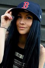 Ukrainian girl Karina,19 years old with brown eyes and black hair.